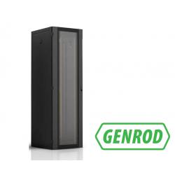 Rack 600mm prof 20U c/pta delantera GENROD