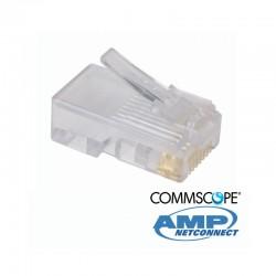 Plug Macho RJ45 Cat 5e  - Bolsa x 100 Unidades COMMSCOPE AMP