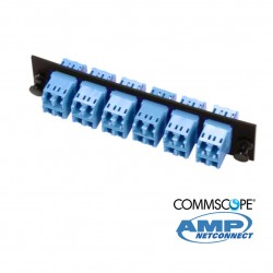 Adapter Plate, 24F, 12 LC dúplex, SM, blue COMMSCOPE AMP