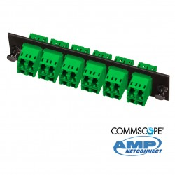 Adapter Plate, 24F, 12 LC dúplex, SM, green COMMSCOPE AMP