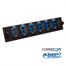 Adapter Plate, 12F, 6 LC dúplex, SM, blue COMMSCOPE AMP