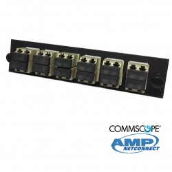 Adapter Plate, 24F, 12 LC dúplex, MM, beige COMMSCOPE AMP
