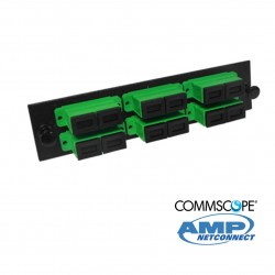 Adapter Plate, 12F, 6 SC dúplex, SM, green COMMSCOPE AMP