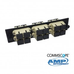 Adapter Plate, 12F, 6 SC dúplex, MM, beige COMMSCOPE AMP