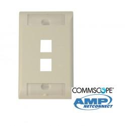 Faceplate Serie E STD 2 Ports Beige COMMSCOPE AMP