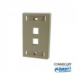 Faceplate C/Marco 2 Ports Beige COMMSCOPE AMP