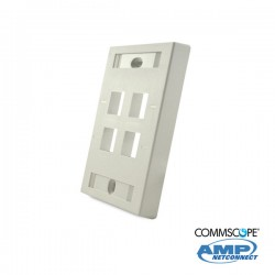 Faceplate C/Marco 4 Ports Blanco COMMSCOPE AMP