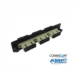 Adapter Plate, 6F, 3 SC dúplex, MM, beige COMMSCOPE AMP